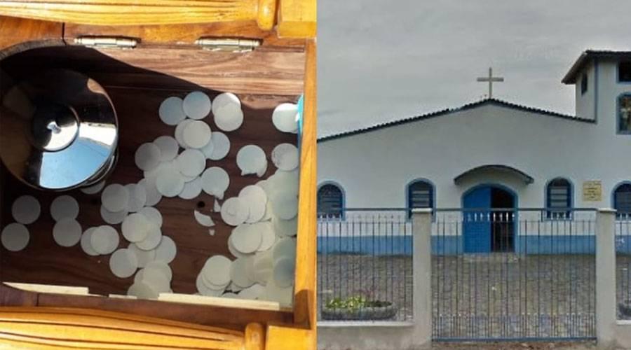 Sacrilégio em Ubatuba: roubam o sacrário e deixam o Corpo de Cristo jogado
